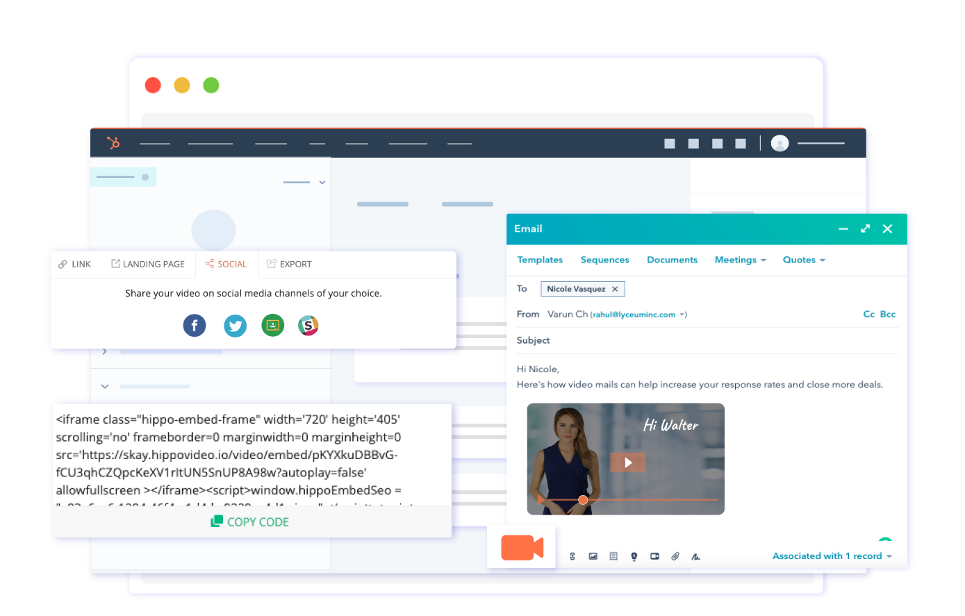 Embed videos in Hubspot email